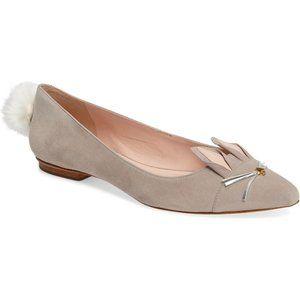 Size 9.5 Kate Spade Edina Bunny Rabbit Suede Flats